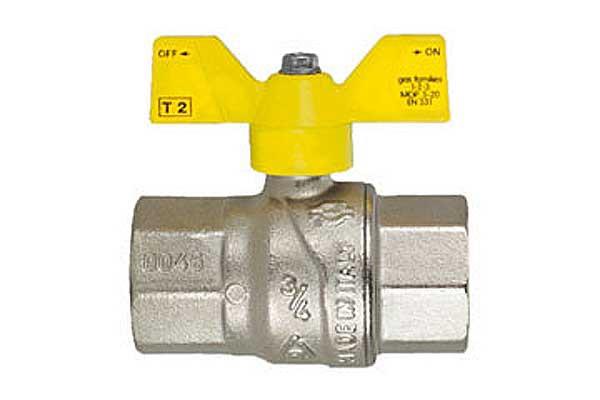 Шаровый газовый кран WKp-2a Ду-15